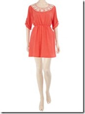 Dorothy Perkins Coral Crochet Dress