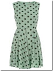 Dorothy Perkins Mint 50's Dotty Dress